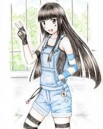 Todays Illustration今日の一枚イラスト 絵 女の子 姫カット 黒髪