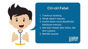 Bahasa Indonesia Kelas 7 Mengenal Ciri Ciri Fabel Dan Legenda