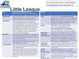 Little League Pitching Chart Little League Chestermere Crushers Baseball