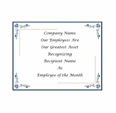 Printable Employee Of The Month Certificates Employee Of The Month Poster Template Gotostudy Info