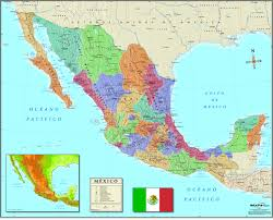 mexico wall map in spanish maps com best of mecico