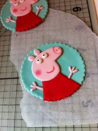 How To Make Peppa Pig Cupcake Toppers Or Cookies From Fondant