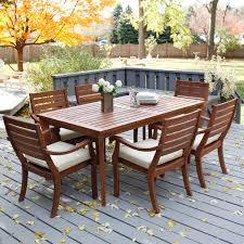 outdoor wood dining table. Dining Room : Teak Patio Furniture Scenic And Luxury Outdoor For Design Ideas Comfortable Modern On Sale Brown Polished Mahogany Best Wood Table D