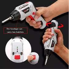 Hộp máy khoan cầm tay dùng pin sạc điện hiện đại kèm 45 chi tiết bằng