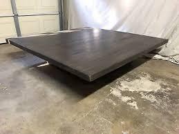 restoration hardware reclaimed russian oak plank square coffee table
