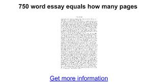 word essay equals how many pages google docs