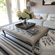 extraordinary tufted ottoman coffee table marvelous oversized idea or other paint color small room and living