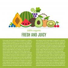 fresh fruit background. Wonderful Fresh Fresh Fruit Background With Text Template Free Vector With Fruit Background