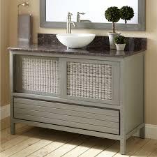 Single Vessel Sink Bathroom Vanity Gray Bathroom Vanity With Vessel Sink Bathroom Vanities Wood