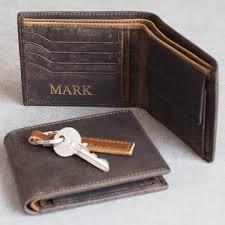 personalised handmade buffalo men s leather wallet