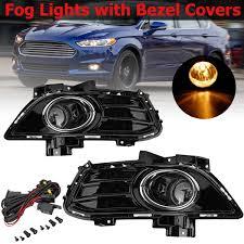 2010 Ford Fusion Fog Light Trim Complete Set Front Fog Lights Fog Lamp Kit With Bezel Covers
