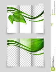 Green Brochure Template Tri Fold Brochure Template Design Stock Vector Illustration Of