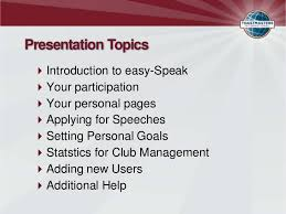 easy speak introduction new toastmasters members presentation topics