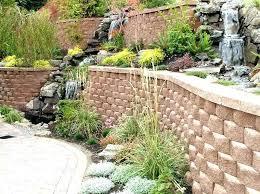 cinder block retaining wall block retaining wall with the fountain cinder block retaining wall
