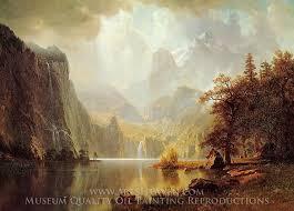 albert bierstadt in the mountains oil painting reion