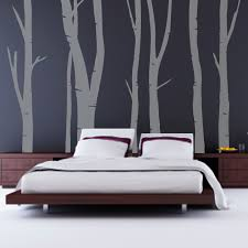 Painting For Bedrooms Walls Stylish Low Profile Master Bed Frames Added Log Wall Painting