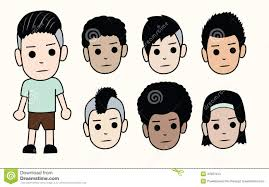 Types Of Hairstyle For Man faces of boys different types of men hairstyles and skin colors 2425 by stevesalt.us