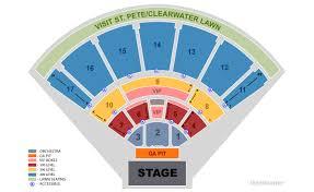 Midflorida Credit Union Amphitheatre Seating Chart With Seat Numbers Midflorida Credit Union Amphitheatre At The Fl State