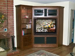 tv television baumhaus mobel solid oak corner
