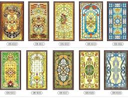 stained glass sticker custom no glue electrostatic scrubs translucent church stained glass windows and doors wardrobe