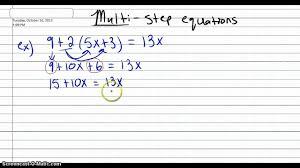 alg 1 multi step equations pt 1