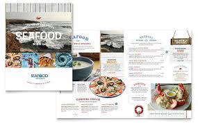 Word Restaurant Menu Templates Seafood Restaurant Menu Template Design