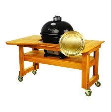 <b>Гриль угольный Oval Large</b> Luxury, на столе из лиственницы ...