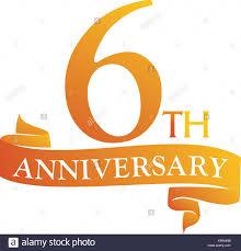 Anniversary Ribbon 6 Year Ribbon Anniversary Stock Vector Art Illustration Vector