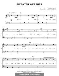 sweater weather piano sheet music sweater weather the neighbourhood by j rutherford z abels j