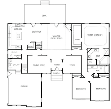 house plans single story open floor one