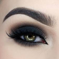 obsessed with this dark dramatic smokey eye by miaumauve to get the look she