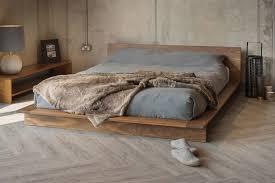 Bedroom Queen Size Platform Bed With Headboard Base Bed Frame Queen ...