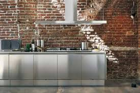 Design Decorating Awesome Minimalist Stainless Steel Kitchens Interesting Stainless Steel Table With Backsplash Minimalist