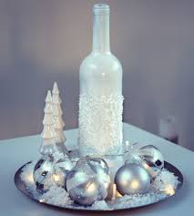 Wine Bottles Decoration Ideas Diy Snowy Christmas Wine Bottle Decoration Youtube idolza 45