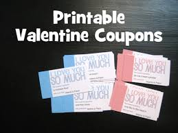 Coupons Diy Diy On A Dime Free Printable Valentine Coupons