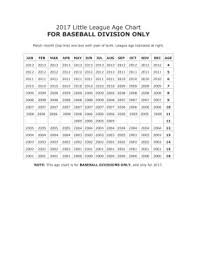 Baseball Age Chart 2017 Little League Baseball Age Chart Pages 1 1 Text