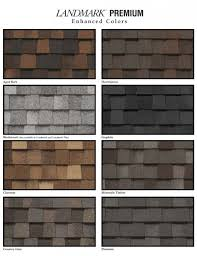 Shingle Color Chart Roofing Attractive Timberline Shingles Color Chart For Home