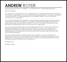 Example Of Cover Letter For Job Delectable Software Development Manager Cover Letter Sample Cover Letter