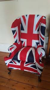 Union flag chair. Flags made by us, chair reupholstered locally in South  Wales UK