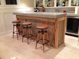 Reclaimed Wood Bar- Top made from 500lb slab of concrete! http://