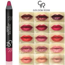 golden rose matte lipstick pencil
