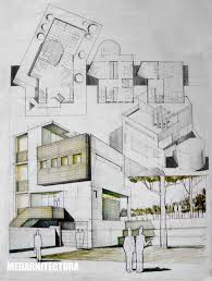 modern architecture drawing. Interesting Architecture 736x974 Contemporary House Architectural Drawing Intended Modern Architecture