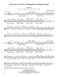 Exercises For The Violin In Various Combinations Of Double