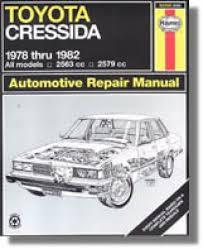Haynes Toyota Cressida 1978-1982 Auto Repair Manual