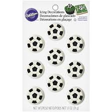 Soccer Ball Icing Decorations