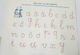 Mẫu chữ viết thường cỡ nhỏ - Bút máy thanh đậm Ánh Dương