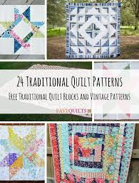 Traditional Quilt Patterns Classy 48 Traditional Quilt Patterns And Quilt Blocks Traditional Quilt
