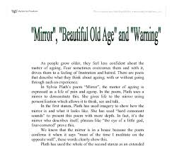 mirror beautiful old age and warning a comparison gcse  document image preview