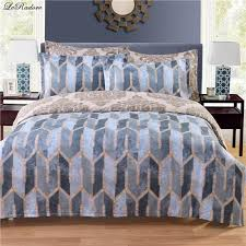 leradore nordic style polyester bedding sets grey geometric duvet cover set pillowcases various size from place of origin king duvet full comforter sets