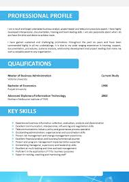Free Resume Templates Professional Outline Template Throughout